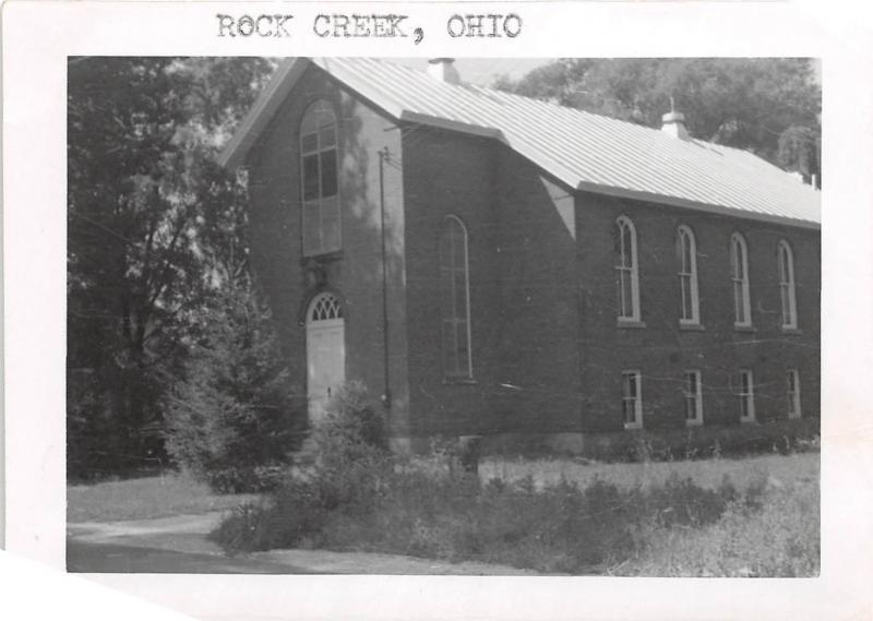 E45/ Rock Creek Ohio Photo RPPC Non-Postcard Snapshot Church Ashtabula