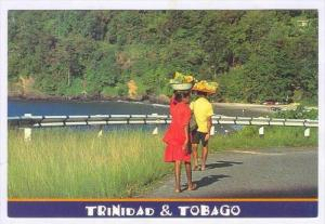 Father & Daughter on way to Sell Produce, Tyrico Bay, Maracas Beach, Trinidad...