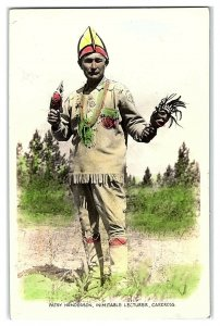 RPPC Patsy Henderson, Inimitable Lecturer, Carcross, Yukon Hand-Colored Postcard