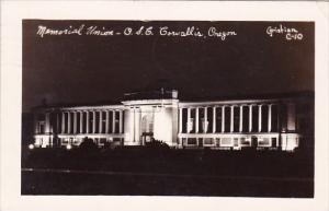 Memorial Union O S C Corvallis Oregon Real Photo 1946