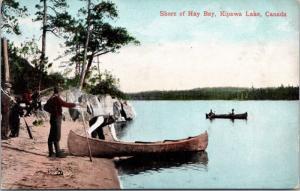 Shore of Hay Bay Kipawa Lake Ontario ON Unused Antique Postcard E15