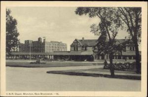 canada, MONCTON, N.B., C.N.R. Depot, Railway Station (1950s)