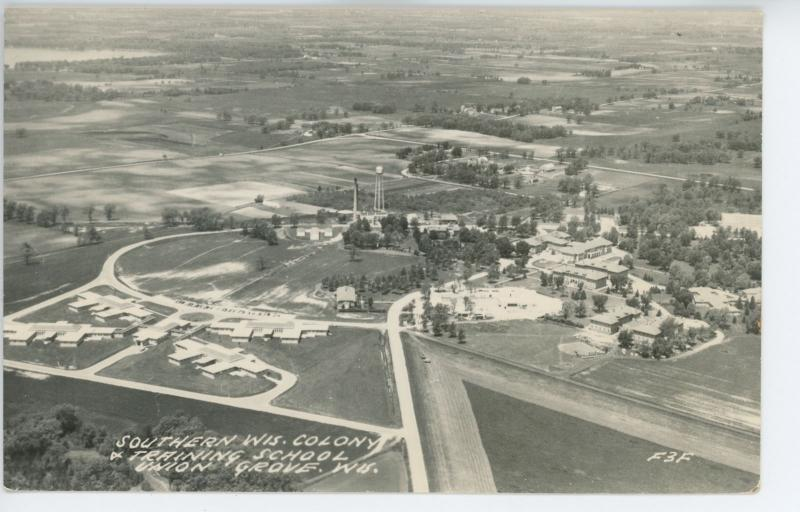 UNION GROVE, WI Southern Wisc Colony and Training School RPPC Postcard