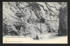 Gotthard Road & Russian Monument Switzerland Unused c1904
