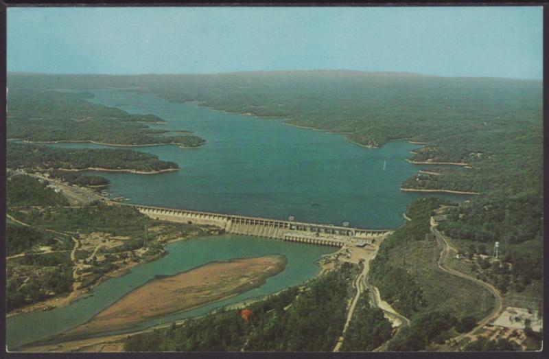 Bagnell Dam,Lake of the Ozarks Postcard BIN