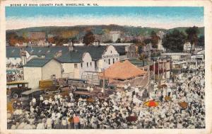 Wheeling West Virginia Ohio Count Fair Scene Antique Postcard K72564