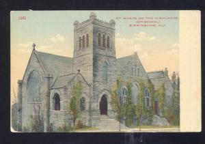 BIRMINGHAM ALABAMA ST. MARYS ON THE HIGHLANDS EPISCOPAL CHURCH POSTCARD