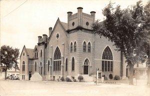 G32/ Fairbury Nebraska RPPC Postcard c1940s Methodist Church Building