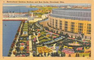 Cleveland Memorial Stadium (Lakefront) NFL Browns~MLB Indians~Razed 1996~PC 1945