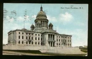 State House In Providence, Rhode Island - Used 1909 - Large Scratch & Some Wear