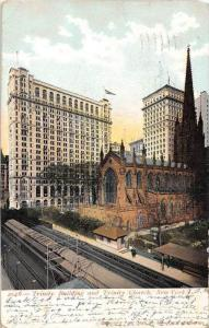 12365  New York City 1904    Trinity Building and Trinity Church