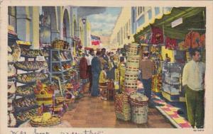 Mexico Tijuana Rodriguez Arcade With Typical Curio Shops 1956 Curteich