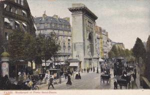 Boulevard Et Porte Saint-Denis, Paris, France, 1900-1910s