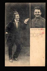 046742 Great CLOWN Hermann SCHNEIDER vintage Photo