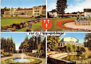 Bad Lippspringe, Kaiser Karls Park Kursaal Lippe Quelle Kurhaus Lion Statue