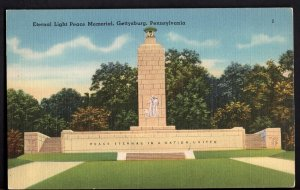 Pennsylvania GETTYSBURG Eternal Light Peace Memorial - LINEN