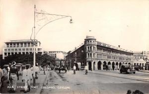 Colombo Ceylon Main Street Fort Real Photo Antique Postcard J76359