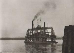Kohlbrandfahre 1930 Reproduction German Ship Postcard