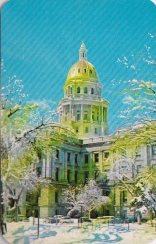 State Capitol Building In Winter Denver Colorado