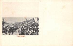 Ghana Gold Coast Cape Coast troops postcard