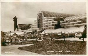 Real photo postcard Crystal Palace London