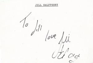 Jill Halfpenny Hand Signed Autograph Card Page