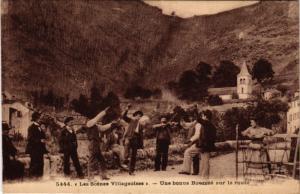 CPA Folklore - Auvergne - Scenes Villageoises - Bourrée sur la Route (773177)