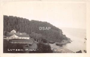 C82/ Lutsen Minnesota Mn Real Photo RPPC Postcard c1920s Birdseye View 1