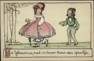 Bas Van Der Veer Children Art Fairy Tale Nursery Rhyme Scarce Postcard #2