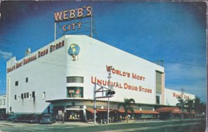 ST PETERSBURG FL -Webbs City, Worlds Most Unusual Drug Store, 1960s - NOW CLOSED