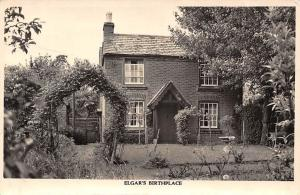 Musician Composer Edgar's Birthplace, Real Photo Greetings! Postcard