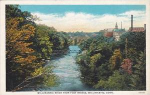 Willimantic River from Foot Bridge, Willimantic, Connecticut, 10-20s