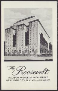 The Roosevelt Hotel,New York,NY