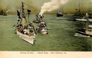 LA - New Orleans. Mardi Gras. Arrival of Rex