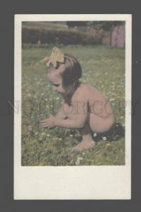 3080598 GIRL as Fairy on Field vintage PHOTO color PC