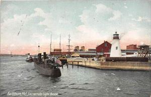 5173  MD Baltimore  1915   Lazzerreto Light House, Submarine, Tugboat