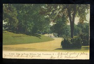 Providence, Rhode Island/RI Postcard, Drive In Roger Williams Park, 1906!