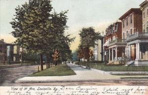 Kentucky Louisville View Of 3rd Avenue Residential Section 1906