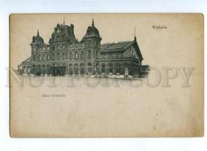 151939 France CALAIS Central Station Gare Centrale Vintage PC