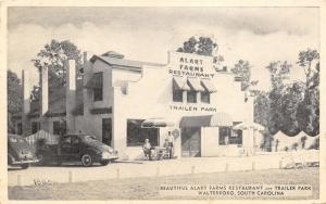 Walterboro South Carolina~Alart Farms Restaurant~Trailer Park~1930s Cars~B&W PC