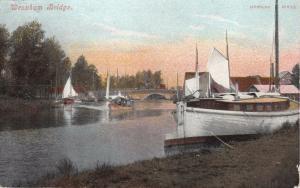 WROXHAM BRIDGE NORFOLK UK~JARROLDS SERIES #1254 POSTCARD 1906 PM