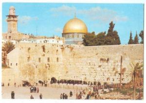 Jerusalem, The Western Wall, unused Postcard