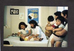 Peru Children International Rotary Club Polio Plus Vaccines Disease Postcard