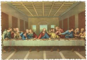 Italy, Milano, The Last Supper by Leonardo Da Vinci, unused Postcard