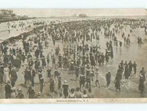 Pre-1907 BEACH SCENE Atlantic City New Jersey NJ d8545