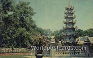Pagoda at the Temple of the Buddhist Association Penang Malaysia Unused