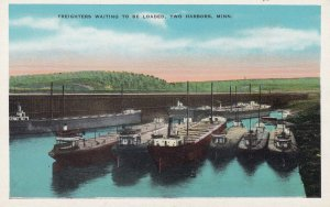TWO HARBORS, Minnesota, 1900-1910's; Freighters Waintin To Be Loaded