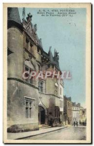 Postcard Old Smokes Poitiers Hotel Old Hotel of Prevote