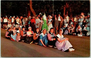 Holland, Michigan Postcard It's Festival Time in Holland Street Scene c1960s