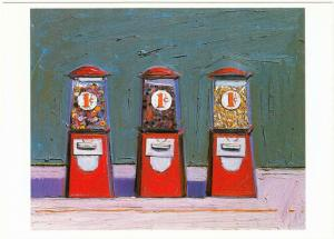 Penny Machines by Wayne Thiebaud Candy Vending Machine Art Postcard
